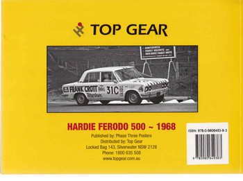 Hardie Ferodo 500 -1968 : A Photographic History - Softbound Edition  - back