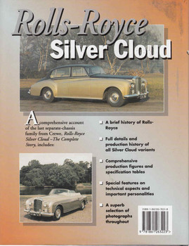 Rolls-Royce Silver Cloud - The Complete Story - 1st Edition - back