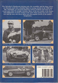 Roy Salvadori: Racing Driver - 1st Edition - back