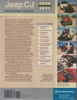 Jeep CJ 1946-1971 Rebuilder's Manual  - back