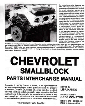 Chevy Small-Block Parts Interchange Manual - 1997 1st Edition  - cont