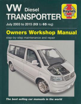 VW Transporter T5 Diesel 2003 - 2015 Workshop Manual (9780857337436)