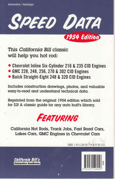 Chevrolet GMC & Buick Speed Manual - Reprint  - back