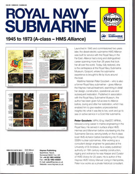 Royal Navy Submarine 1945 to 1973 ( A-Class - HMS Alliance ) Owners' Workshop Manual - back