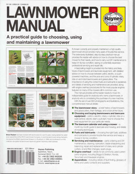 Lawnmower Manual A Practical guide to choosing, using and maintaining a lawnmower - back