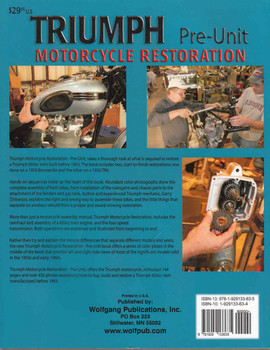 Triumph Motorcycle Restoration Pre-Unit - back