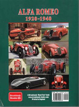 Alfa Romeo 1920-1940 A Brooklands Portfolio - back