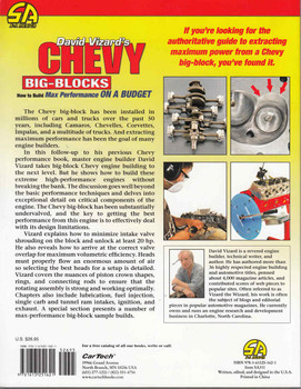 David Vizard's Chevy Big Blocks How to Build Max Performance On A Budget All-New Edition  - back