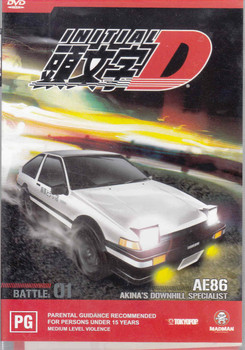 Initial D : AE86 Akina's Downhill Specialist Battle # 01 DVD  - front