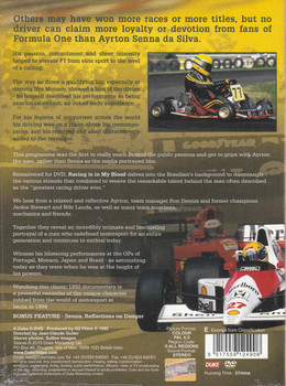 Ayrton Senna: Racing Is In My Blood DVD  - back