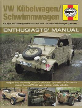 VW Kubelwagen / Schimmwagen Type 82, 128 / 166 Enthusiasts' Manual  - front