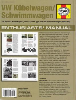 VW Kubelwagen / Schimmwagen Type 82, 128 / 166 Enthusiasts' Manual  - back