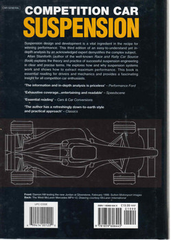 Competition Car Suspension: Design,Construction,Tuning - 3rd Edition - back