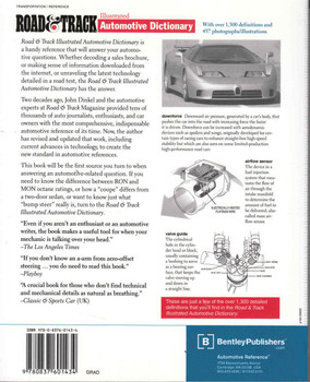 Road & Track Illustrated Automotive Dictionary - back