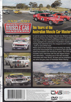 Ten Years of the Australian Muscle Car Masters 2005 - 2014 (2-Discs) DVD - back