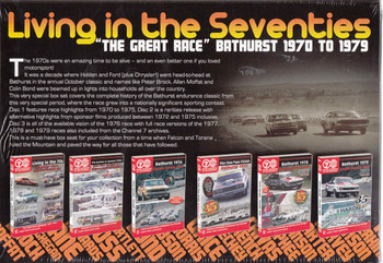"Living In The Seventies ""The Great Race"" Bathurst 1970 - 1979 6 DVD Box Set DVD - back"