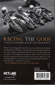 Racing The Gods: A Ducati Superbike Racer's Autobiography  - back