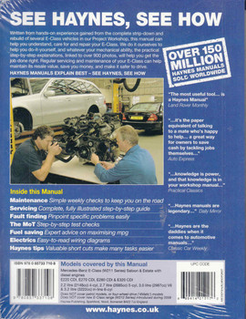 Mercedes-Benz E-Class (W211 Series) Diesel 2002-2010 Workshop Manual  - back