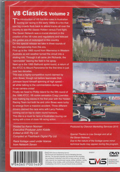 Magic Moments Of Motorsport: V8 Classics Vol.2 DVD  - back