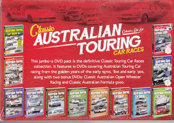 Classic Australian Touring Car Races Collectors 12 DVD Box Set - back