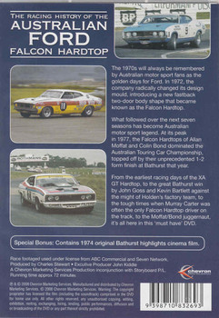 The Racing History Of The Australian Ford Falcon Hardtop DVD  - back