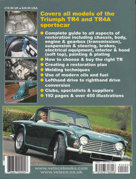 How To Restore Triumph TR4 & TR4A Enthusiast's Restoration Manual - back