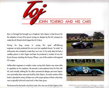 Toj: John Tojeiro And His Cars - SIGNED By Author Graham Gauld - back