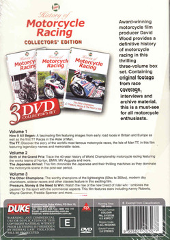 History of Motorcycle Racing 3 DVD Set - back