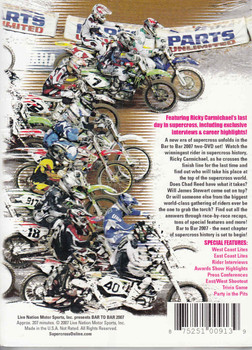 Bar To Bar 2007 Supercross 2-DVD Set - back