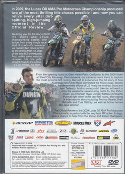 AMA Pro Racing Motocross Championship Review 2009 2-DVD Set - back