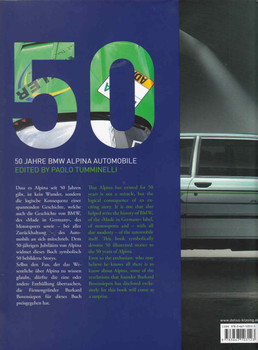 OAL-BB 50: The Alpina Book 50 Jarre BMW Alpina Automobile  - back