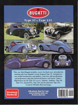 Bugatti Type 57 to Type 251 A Brooklands Road Test Portfolio - back