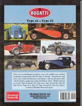 Bugatti Type 41 to Type 55 A Brooklands Road Test Portfolio - back