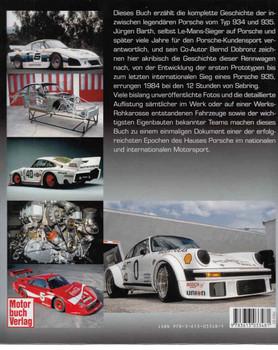 Porsche - 934 / 935 Die komplette Dokumentation: Entwicklung - Einsatz - Historie (German Text) - back