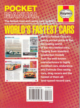 Haynes Pocket Manual: World's Fastest Cars - back