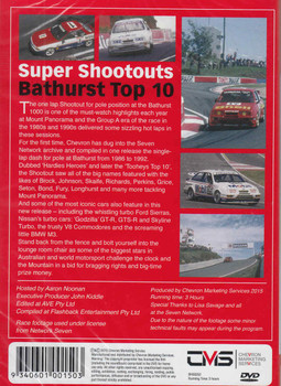 Magic Moments Of Motorsport: Super Shootouts Bathurst Top 10 DVD - back