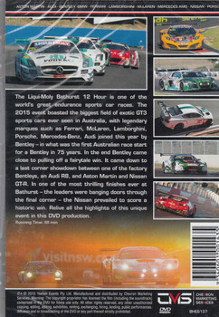 2015 Bathurst 12 Hour Highlights DVD - back