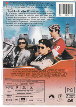 Ferris Bueller's Day Off DVD Back