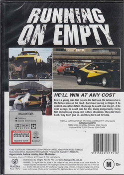 Running On Empty Australian Cult Film DVD Back