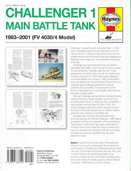 Challenger 1 Main Battle Tank 1983 - 2001 (FV 4030/4 Model) Owners' Workshop Manual Back