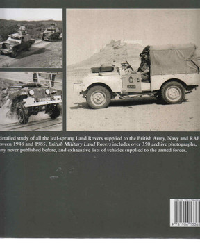 British Military Land Rovers Back Cover