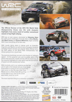 WRC FIA World Rally Championship 2015 DVD - back