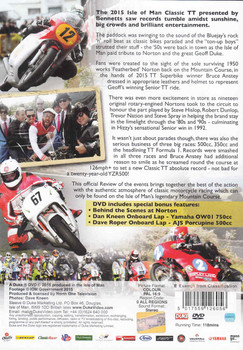 Classic TT Isle Of Man Official Review 2015 DVD - back