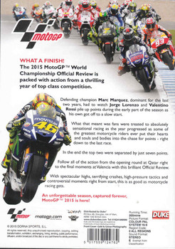 MotoGP 2015 World Championship Official Review DVD - back