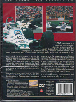 Formula One 1980 - Double First: Williams and Jones DVD Back