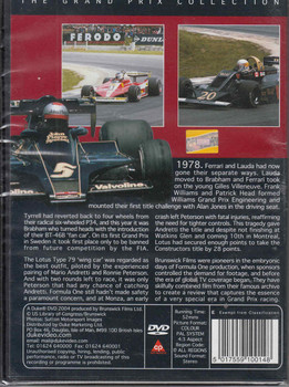 Formula One 1978 - Magic Mario DVD Back