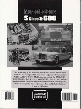 Mercedes-Benz S Class & 600 Limited Edition Extra 1965 - 1972 Back