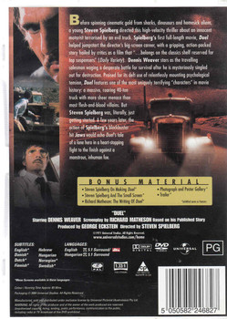 Duel - Special Edition a film by Steven Spielberg DVD Back