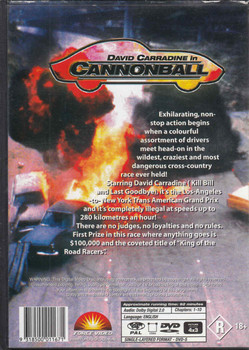 David Carradine in Cannonball DVD Back