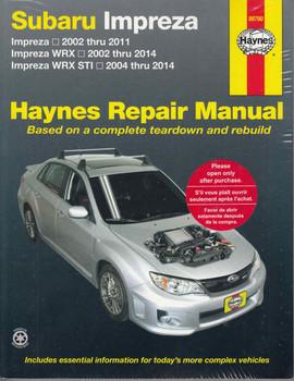Subaru Impreza, WRX, STI 2002 - 2014 Workshop Manual